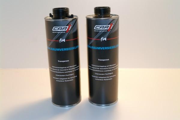 2x CAR1 CO 3611 Hohlraumversiegelung Wachsbasis 1L Pistolendose - transparent