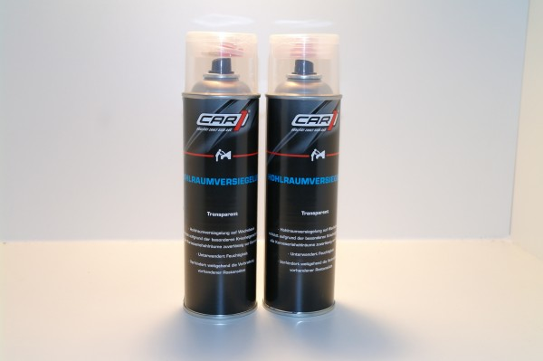 2x CAR1 CO 3610 Hohlraumversiegelung Wachsbasis 500ml Spray - transparent