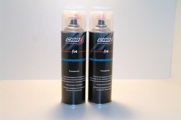 2x CAR1 CO 3610 Hohlraumversiegelung Wachsbasis 500ml Spray - transparent