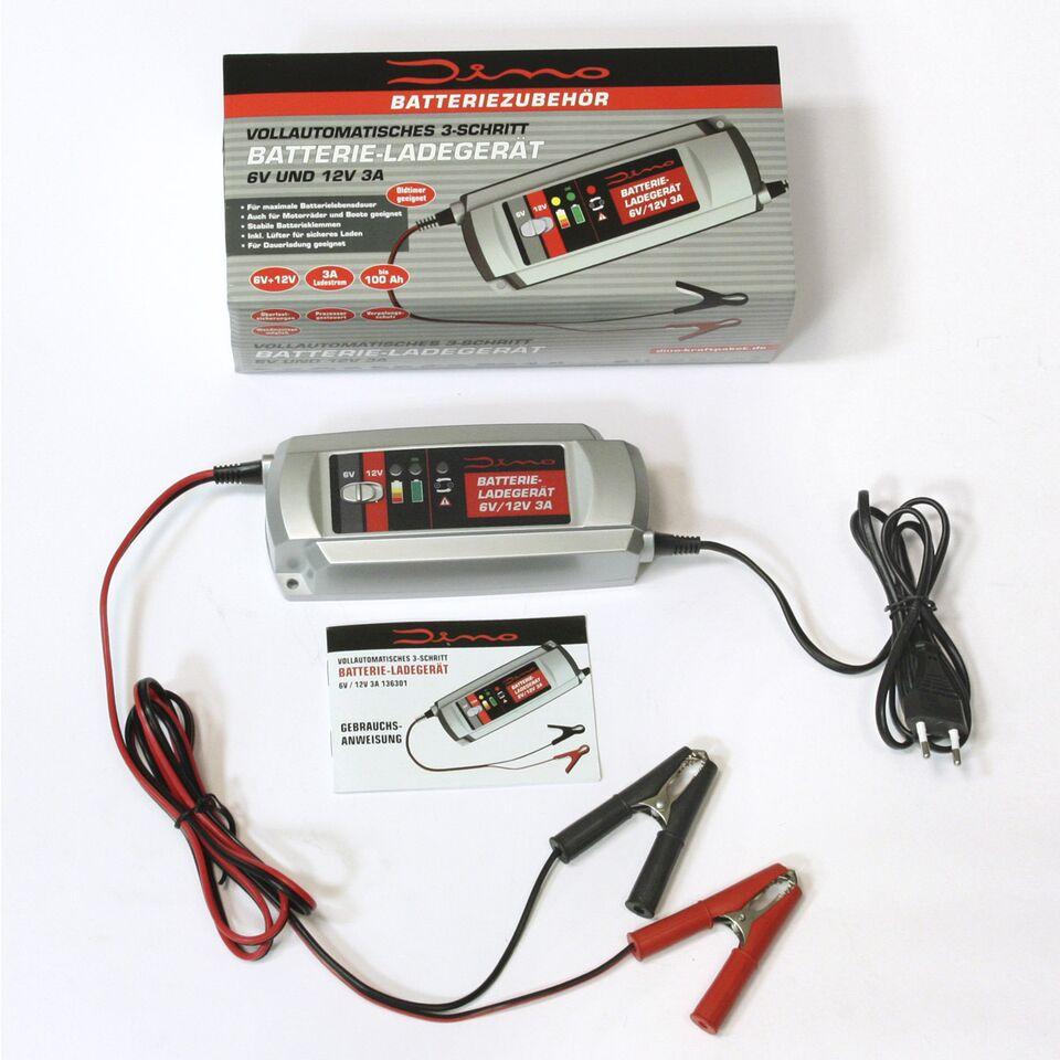 dino kraftpaket batterieladeger t 6v 12v 3a kfz auto. Black Bedroom Furniture Sets. Home Design Ideas