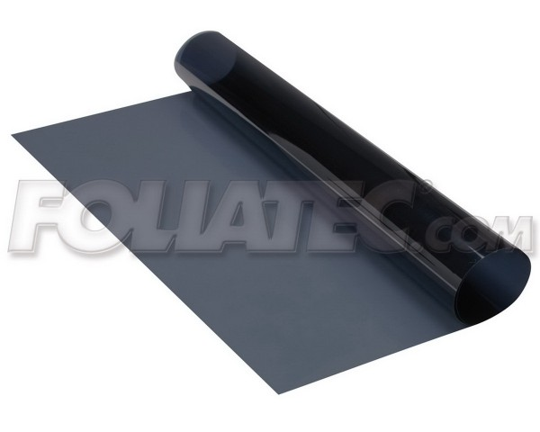 FOLIATEC Tönungsfolie - Midnight Reflex schwarz - Superdark - 1x (76 x 152 cm) + 1x (51 x 400 cm)