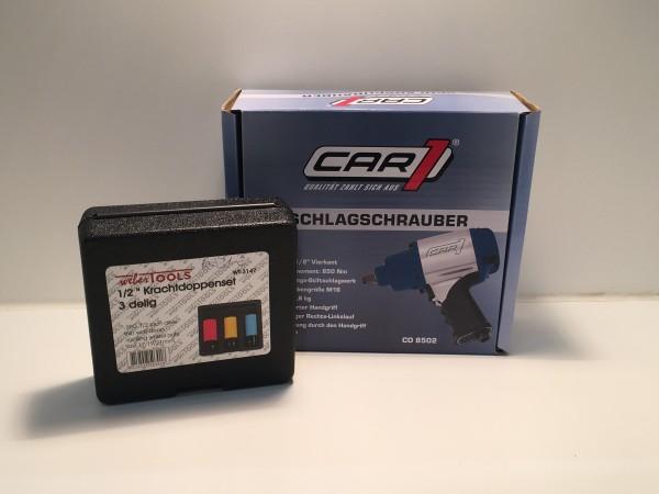 CAR1 Hazet Schlagschrauber 9012SPC 1/2 Zoll 850NM CO8502 inkl. RadmutternSchlagschrauber Nüsse Kraft