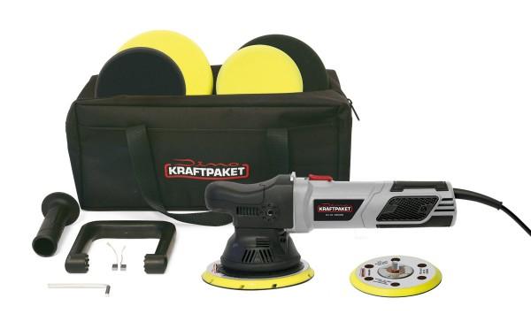 Dino KRAFTPAKET 9mm-900W Exzenter Poliermaschine Stufenlos im XXL-Set mit 125mm 150mm