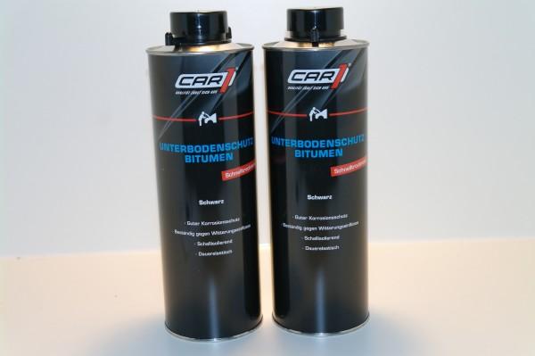 2x CAR1 CO 3613 Unterbodenschutz Bitumen 1L Pistolendose - schwarz