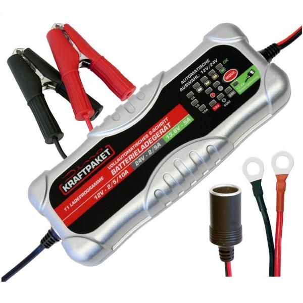 Dino KRAFTPAKET KFZ Batterieladegerät 12V 24V-10A Auto Batterie Ladegeraet Motorrad