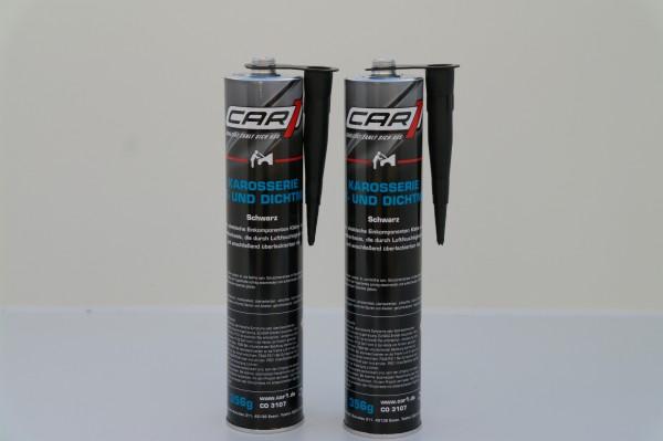 2x CAR1 CO 3107 Karosserie Klebe- & Dichtmasse 310ml - schwarz