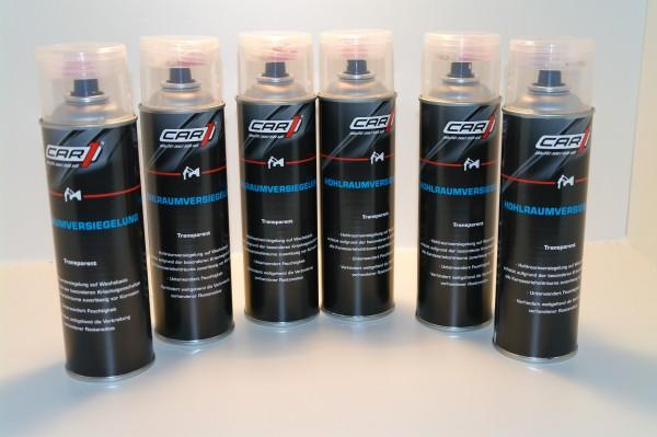 6x CAR1 CO 3610 Hohlraumversiegelung Wachsbasis 500ml Spray - transparent