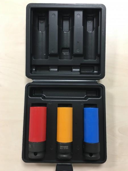 Radmuttern Kraft-Schoneinsatz 3tlg 17-19-21 mm