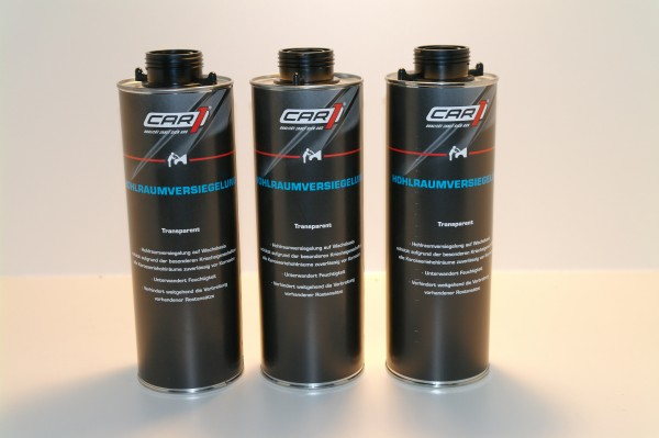 3x CAR1 CO 3611 Hohlraumversiegelung Wachsbasis 1L Pistolendose - transparent